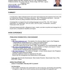 Ccna Resume Format For Freshers Cv Sample With Throughout Standard