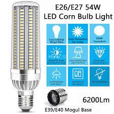 500 Watt Equivalent Led Work Light Details About 54w Super Bright Corn Led Light Bulb 500 Watt Equivalent For Garage Warehouse