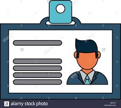 Work Identity Card Work Id Card Icon Image Stock Photos Work Id Card Icon Image Stock