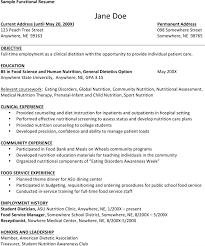sample dietitian resume clinical dietitian resume