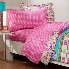 pink and blue comforter set retro peace sign love girls bedding twin 6