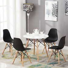 round dining room set. Modern Vogue White Beech Wood Dining Table Carpenter Round Room Furniture Set