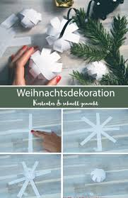 Weihnachtsdekoration Basteln 3d Stern Und Papierkugel 2