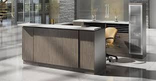 modern office reception desk. Leather Reception Furniture Modern Office Desk