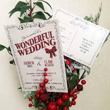 93 best christmas wedding stationery images on pinterest Wedding Invitations Christmas christmas wedding invitation red and ivory invitation designed by lisa loves design wedding invitations christian