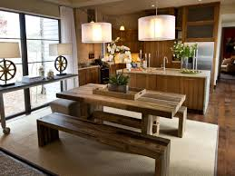 rustic kitchen table with bench. Rustic Dining Room Table With Bench For Modern Photos Kitchen
