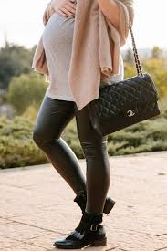 the best leather leggings outfit for fall with leather leggings and black leather ankle boots