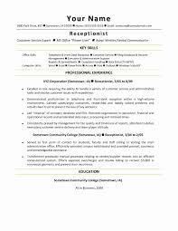 Medical Office Receptionist Sample Resume Unique Medical