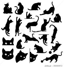 猫 ポーズ イラスト 動物のイラスト素材 Pixta