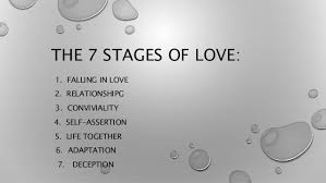 The 40 Stages Of Love Stunning Love Deception