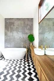 bathroom floor underlayment for tile unique black and white zigzag paint ceramic tile floor for modern