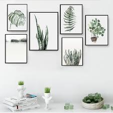 Современный лист кактуса пейзаж холст <b>картина постер в</b> стиле ...