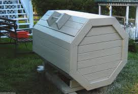 plans how to build your own wood octagon garbage trash box bin 634304605816