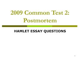 hamlet short essay topics