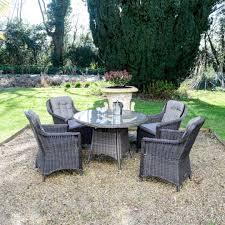 henley 4 chair round dining set maple rattan