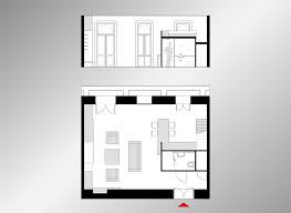 Sqm Modern Studio Apartment Design Idea With Mezzanine Bed Plan - Tiny studio apartment layout