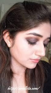 Dark Eyes Light Lips Makeup Fall Winter Look Blackened Plum Eyes With Peachy Pink Lips