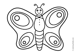 Butterfly Coloring Page Nature Coloring Page