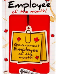 Emploee Of The Month Govt Employee Of The Month Air Freshener