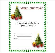 christmas gift card templates free printable christmas gift certificates templates