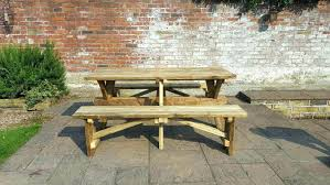 round picnic table wooden round picnic table plans large size of picnic table home depot round