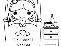 Get Well Printable Coloring Pages Get Well Card Coloring Pages
