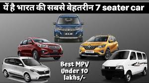 top 7 seater mpv to under 10 lakhs