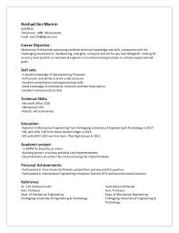 Entry Level Mechanical Engineer Resume Free Resume Templates 2018