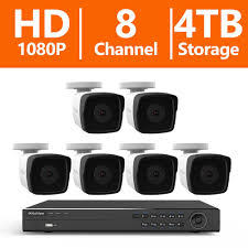laview 8 channel 1080p ip surveillance 4tb nvr security system 6 1080p wired