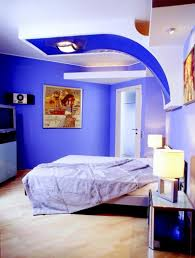 bedroom minimalist. Cool Minimalist Bedroom With Blue Paint