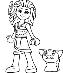 Moana Princess 3 Coloring Page Free Coloring Pages Online