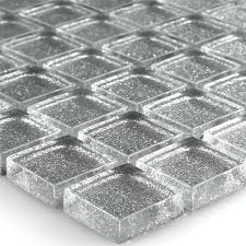 mosaic tiles glass silver glitter 23x23x8mm