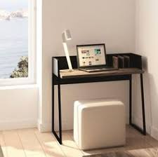 compact office furniture. Volga, Modern Compact Office Desk In Matte And Walnut Finish Furniture