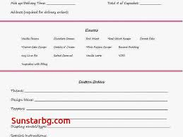 Bakery Order Forms Template Elegant Unique Free Cake Invoice