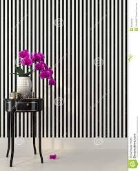 Behang Streep Zwart Wit