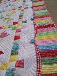 627 best Quilts - Borders/Sashing Ideas images on Pinterest | Hand ... & I like this scalloped border Podunk Pretties: Promenading Tulips Finished! Adamdwight.com