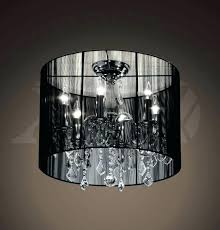 chandeliers crystal chandelier with black drum shade drum shade crystal chandelier dining room eclectic with