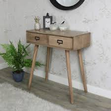 retro hall table. Image Is Loading Retro-wooden-2-drawer-desk-console-table-office- Retro Hall Table E