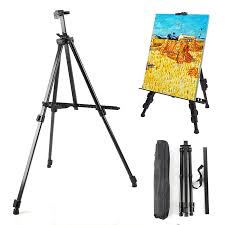 Easel Clothing Size Chart Us 24 89 Easel Stand Artist Easels For Display Aluminum Metal Tripod Field Easel With Bag For Table Top Floor Flip Charts Black Art In Easels
