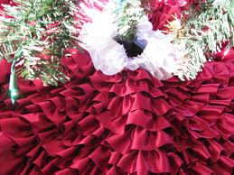 DIY Ruffle Christmas Tree Skirt - YouTube