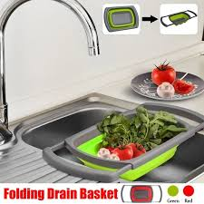 1pcs Folding <b>Drain Basket Sink Strainer Collapsible</b> Colander ...