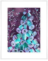 art print on purple and green canvas wall art with foxgloves on purple floral canvas wall art greenbox