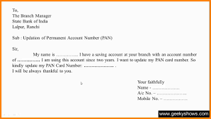 Best Solutions of How To Write A Letter Bank Manager For Change Of ...