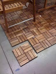 interlocking wood deck tiles floor
