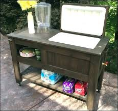 outdoor cooler cart beverage idea patio or full size of wood plans outdoor cooler cart