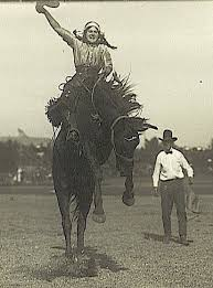 My great aunt Hazel performing as Peggy Warren with the Irwin Brothers at  the first rodeo in New York, 1916.   Cowgirl pictures, Rodeo cowboys, Horse  rider