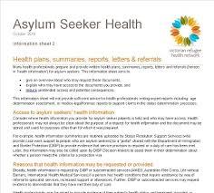 amp; Information Victorian Referrals Asylum Letters Refugee Plans Sheet Network Health 2 Seeker Reports Summaries »