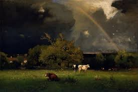 george inness the father of landscape paintings and exponent of tonalism and barbizon style