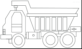 Dump Truck Coloring Pages Printable Garbage Free Semi Semicolon ...