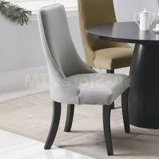 velvet high back dining room chairs with fy upholstered light grey seat also black wooden legs